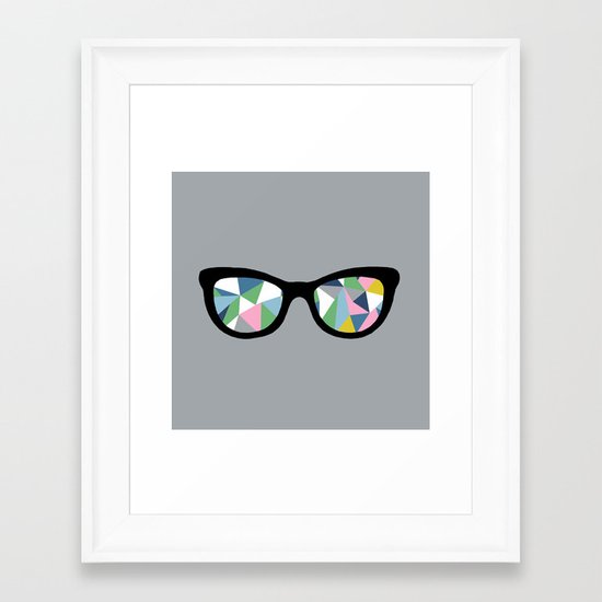 Abstract Eyes Framed Art Print