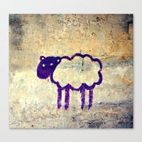 Just A Sheep Canvas Print