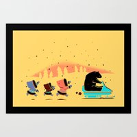 Grand Theft Arctic Art Print