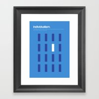 Individualism Framed Art Print
