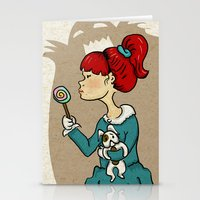 candy monster Stationery Cards