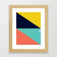 Secret Surf Map (High Ti… Framed Art Print