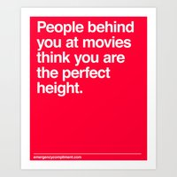 Perfect Movie Height Art Print
