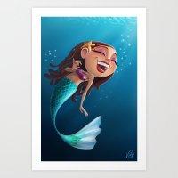 Sofia the Mermaid Art Print