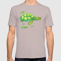 Myanmar River Turtle Mens Fitted Tee Cinder SMALL