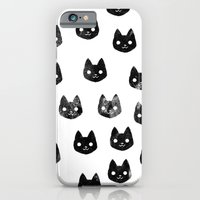 Black Cat Pattern iPhone 6 Slim Case