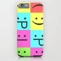 Smiley Chess Board iPhone 6 Slim Case
