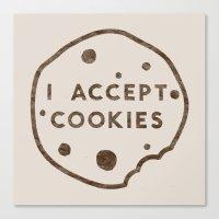 I Accept Cookies Canvas Print