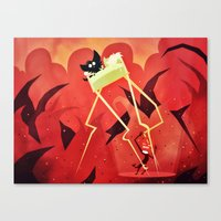 Canvas Print featuring Hell Beneath Our Sheets by Doc Diventia