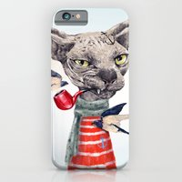 iPhone Cases featuring Sphynx cat by dogooder