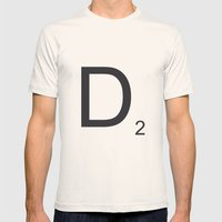 Scrabble D Mens Fitted Tee Natural SMALL