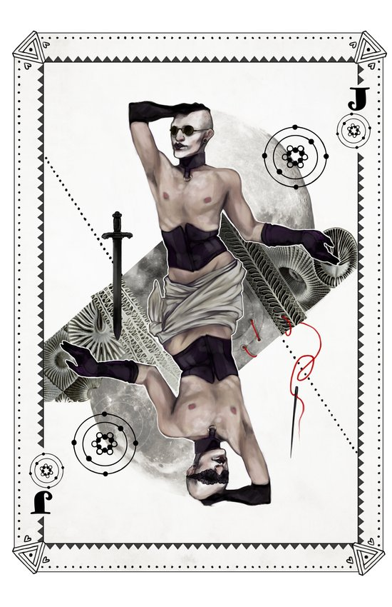 Jack of Carbon Art Print
