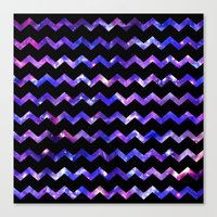 Chevron Galaxy Canvas Print