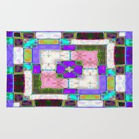 Glass Block Abstract Rug