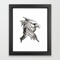 Hawk profile  Framed Art Print