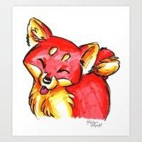 Brush Breeds-Shiba Inu Art Print