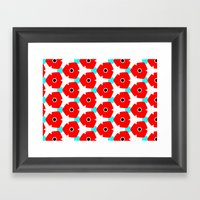 Herweije Retro Flower Pa… Framed Art Print
