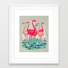 Flamingos By Andrea Laur… Framed Art Print