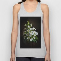 White Lilies Unisex Tank Top
