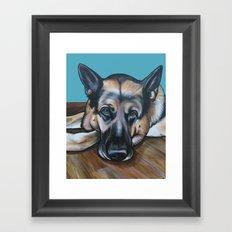 Merlin the German Shepherd Framed Art Print