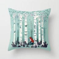 Throw Pillow featuring The Birches by Littleclyde