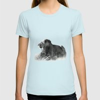Lion in the Sunshine Womens Fitted Tee Light Blue SMALL