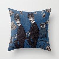 Two Men Travelling Throw Pillow