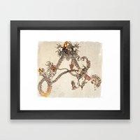 Letter A- organic alphabet Framed Art Print