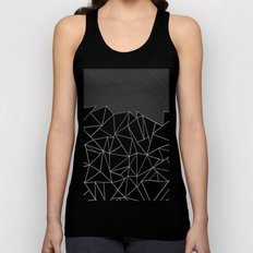 Ab Lines 45 Grey and Black Unisex Tank Top