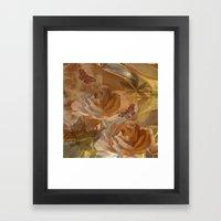 Textured Flowers, Leaves… Framed Art Print