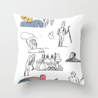 jikjikjik Throw Pillow