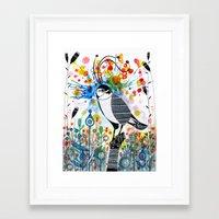 Happy hawk Framed Art Print