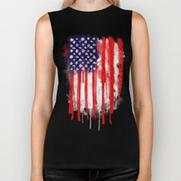 American Spatter Flag Biker Tank