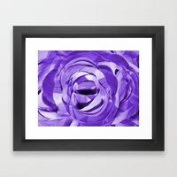 Purple Painted Paper Flo… Framed Art Print