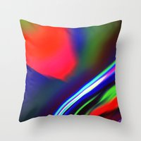Seismic Folds Throw Pillow