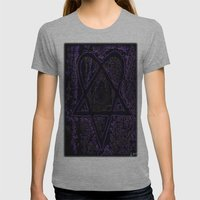 Nightmare Heartagram Womens Fitted Tee Athletic Grey SMALL