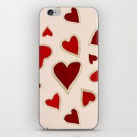 Ditsy dark hearts for lovers iPhone & iPod Skin