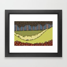 Flowers to Grass to Trees Framed Art Print