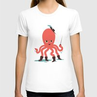 Octopus in Boots Womens Fitted Tee White SMALL