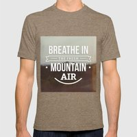 Mountain Air Mens Fitted Tee Tri-Coffee SMALL