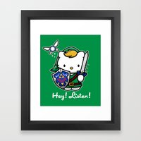 Hey! Listen! Framed Art Print