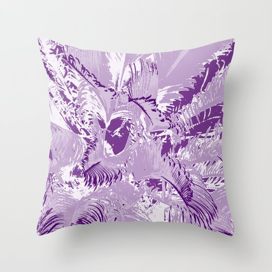The mask - purple Throw Pillow