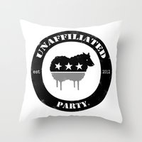 Unaffiliated Party Badge Throw Pillow
