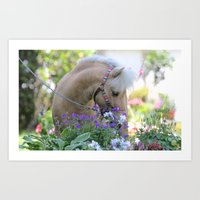 Thor and Flowers Art Print