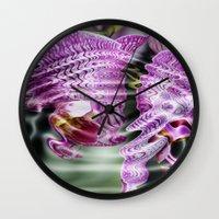 Sunken Orchids Wall Clock