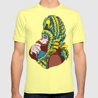 Chimp Mens Fitted Tee Lemon SMALL