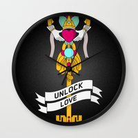 Unlock Love Wall Clock