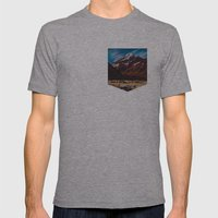 South Island Glacier Mens Fitted Tee Athletic Grey SMALL