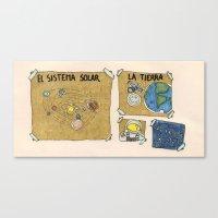 Sistema Solar  School Wo… Canvas Print