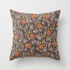 Floral Pattern 1 Throw Pillow